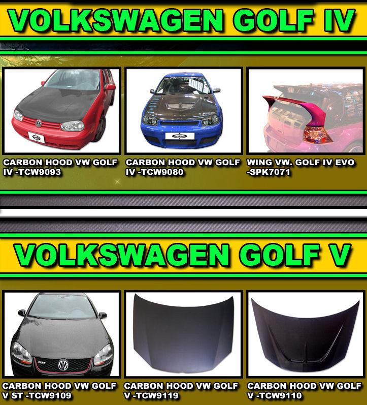 VW golf carbon fibre bonnet for mk4 and mk5 | Aktiv Performance